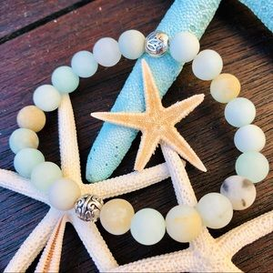 Jewelry - 🆕🆕🆕✨FROSTED AMAZONITE W/SCROLL BEADS 8mm✨